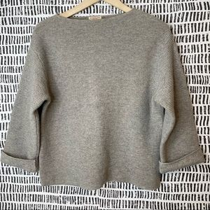Demylee ribbed cashmere wool blend sweater